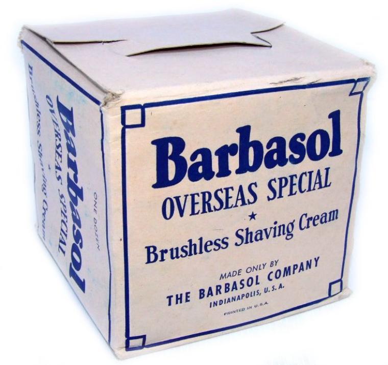 "Barbasol, WW2 US ""Overseas spécial"" crème à raser"