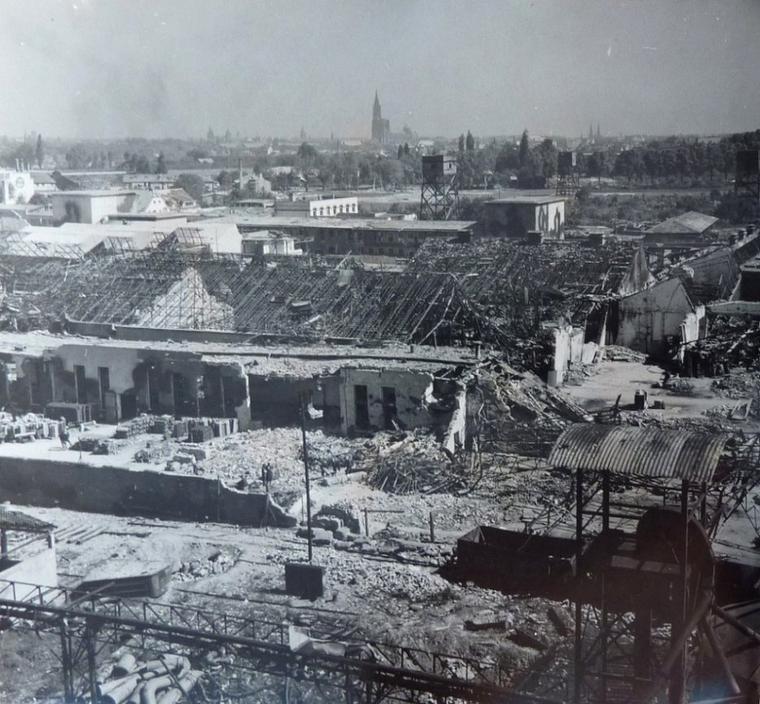 Usine mathis 200 av Colmar bombardement du 27-5-1944