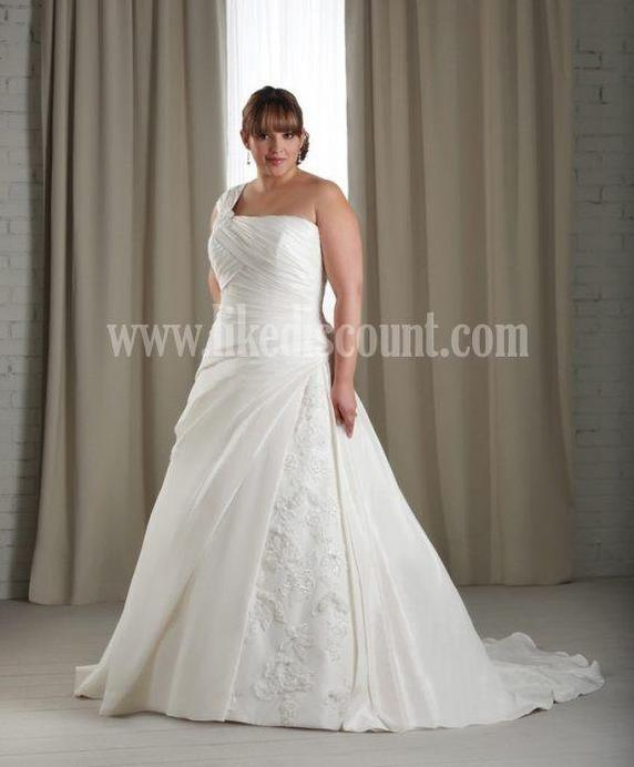 Hot Sale Sexy V Neck Halter Appliques Ruffles Plus Size Wedding