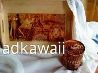 Plateau avec boite inspiration africaine:-D