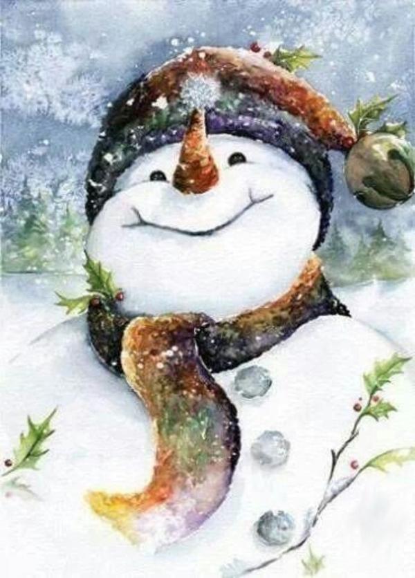 Nos tendres amis les bonhommes de neige!
