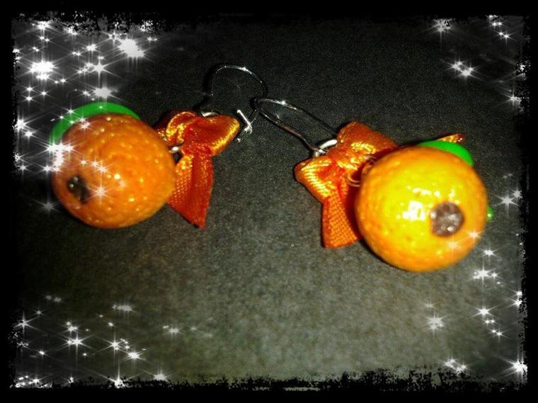 Boucles d'oreilles clémentines