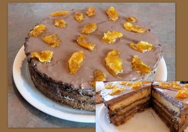 Idée pour les fêtes : Bavaroise chocolat orange parfum menthe
