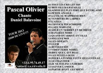 Pascal Olivier au taquet pour 2013 plus de 60 dates prévues