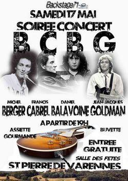 Concert BCBG (Berger, Cabrel, Balavoine et Goldman) le 17 Mai 2014 à St Pierre de Varennes
