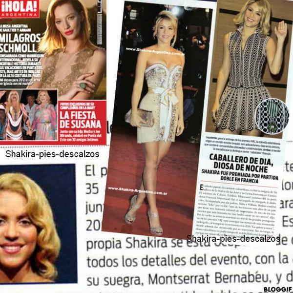 """Shakira dans le magasine """" Hello! """"  cette semaine (argentine)"""