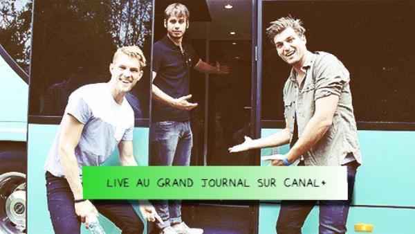 09.05.2012 - Lors de leurs passage en France cette semaine, nos loulous ont fait un détour par le Grand Journal de Michel Denisot. Cela donne un bon petit live et bien une très belle performance.