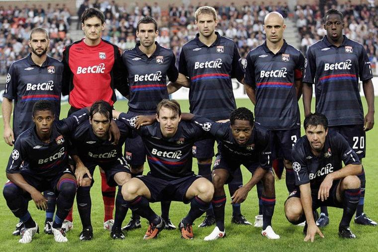 Maillot OL 2009-2010 Europe