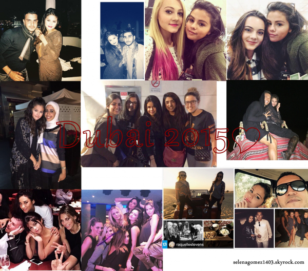 Selena a fêté le Nouvel an à Dubaï