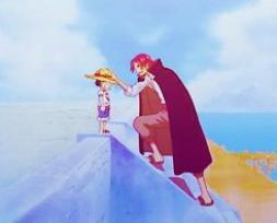 Luffy et Shanks