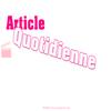 Article Quotidienne