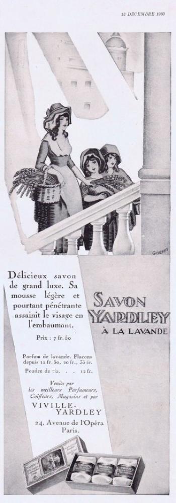 🌸 Yardley  🧼  Les savons à la lavande - pubs de 1930 🌸