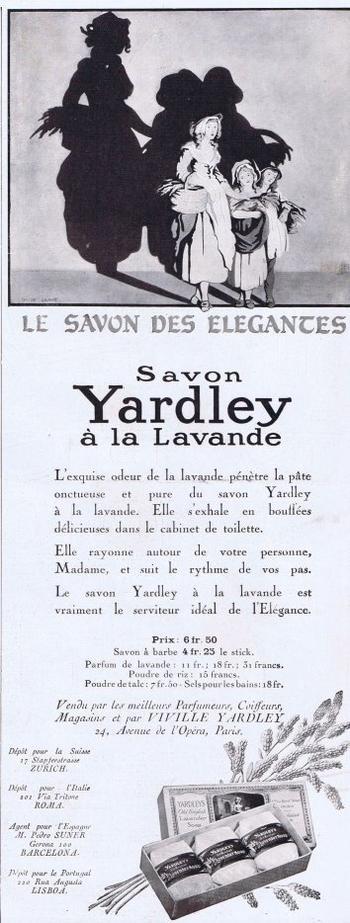 🌸 Yardley  🧼  Les savons à la lavande - pubs de 1928 🌸