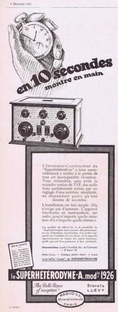 📻  Le Superhétérodyne des Ets Radio L.L.  📻