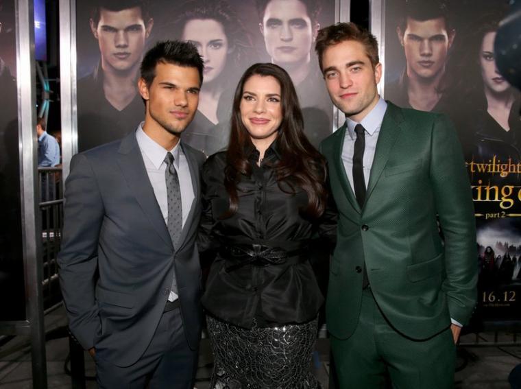 Jolie photographie de Taylor Lautner, Stephenie Meyer et Robert Pattinson