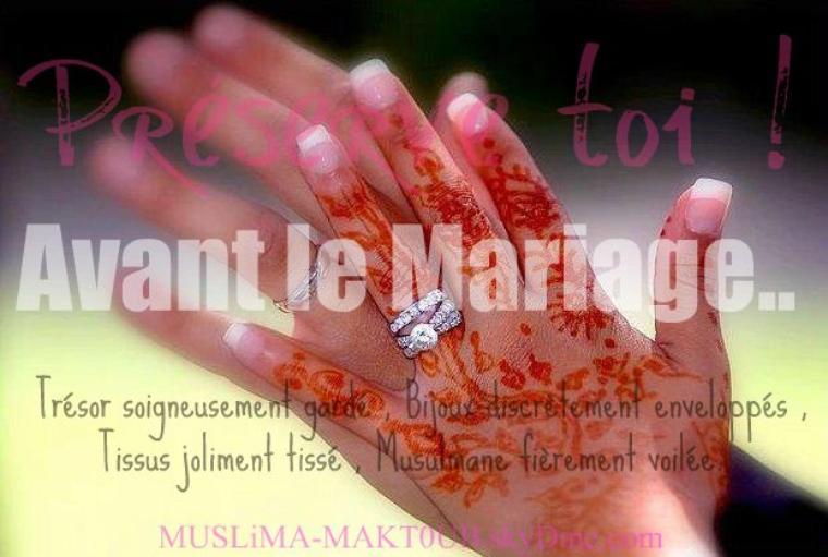 avant le mariage - Mouslima Mariage