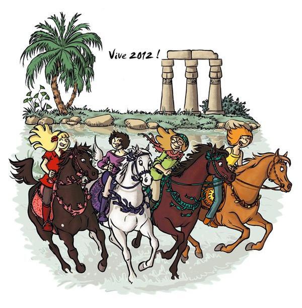 Bonne année 2012 à tous les amoureux des chevaux