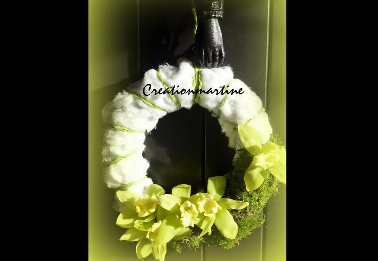 Petite couronne de porte blog de creationmartine - Couronne de porte ...
