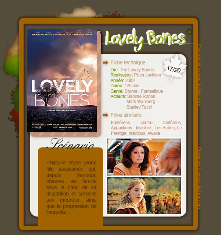 Lovely Bones de Peter Jackson avec Saoirse Ronan, Mark Wahlberg et Stanley Tucci