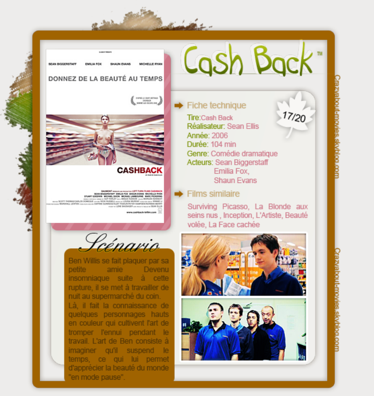 CashBack de Sean Ellis avec Sean Biggerstaff, Emilia Fox et Shaun Evans