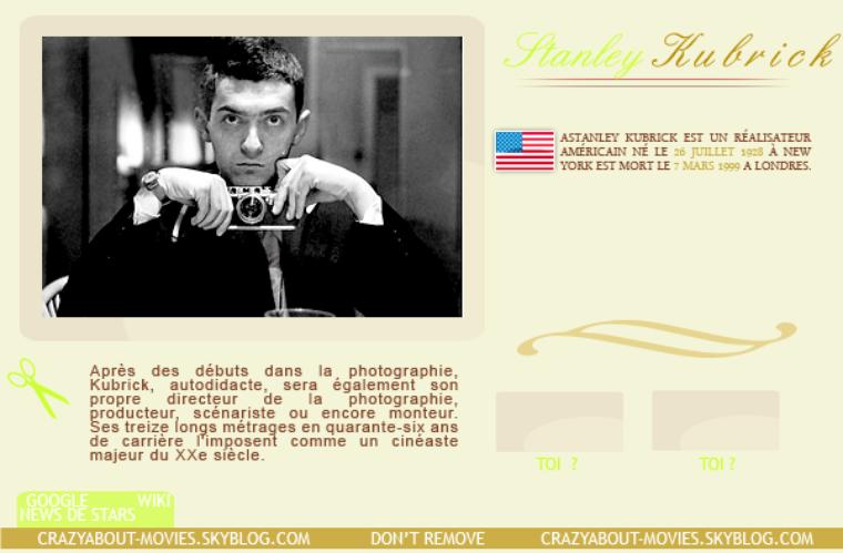 Réalisateur - Stanley Kubrick