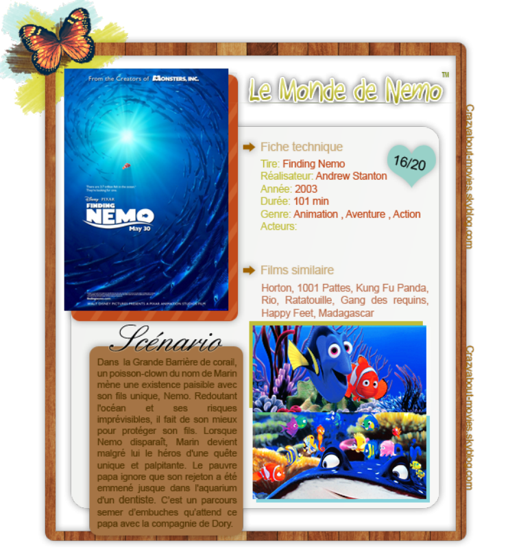 Le Monde de Nemo de Andrew Stanton et Lee Unkrich