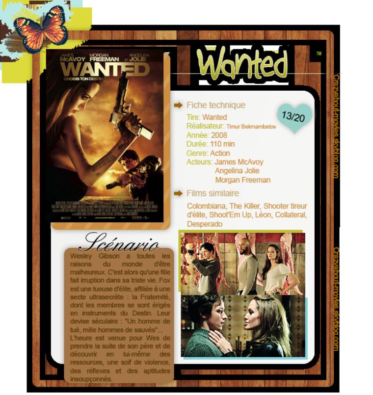 Wanted : choisis ton destin de Timur Bekmambetov avec James McAvoy, Angelina Jolie et Morgan Freeman