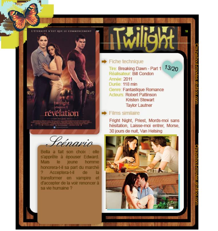 Twilight - Chapitre 4 : Révélation 1ère partie de Bill Condon avec Robert Pattinson, Kristen Stewart et Taylor Lautner