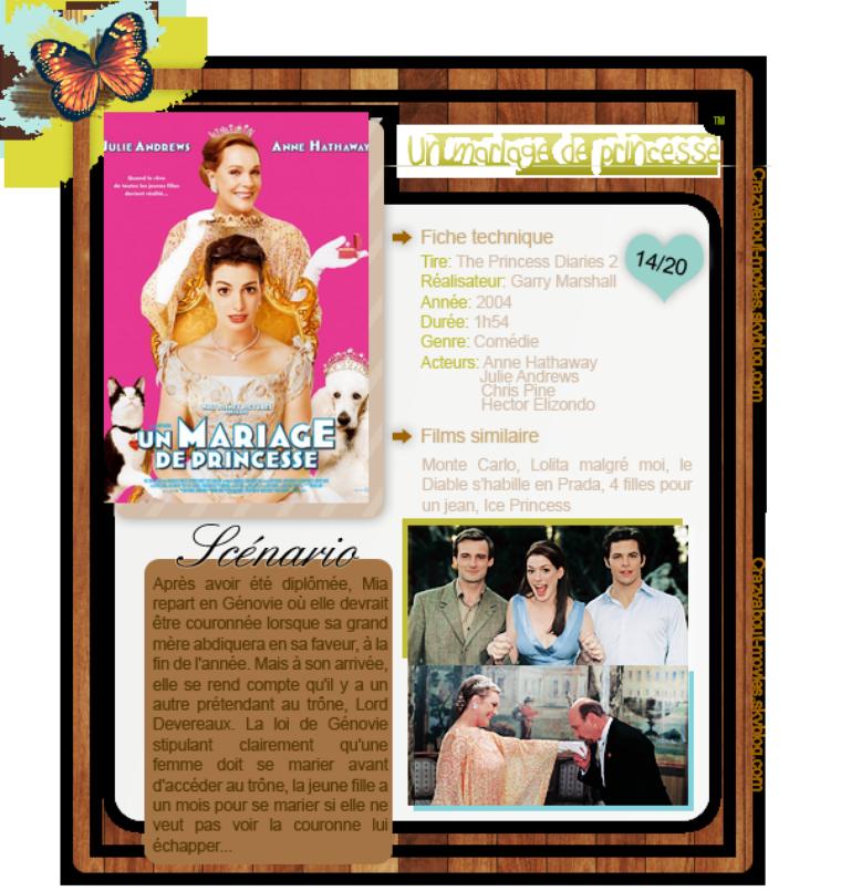 Un mariage de princesse de Garry Marshall avec Anne Hathaway, Julie Andrews et Chris Pine, Hector Elizondo
