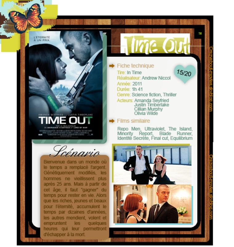Time Out de Andrew Niccol avec Amanda Seyfried, Justin Timberlake, Cillian Murphy et Olivia Wilde
