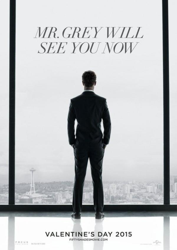 "Voici en exclusivité le premier poster de ""50 Nuances de Grey"" avec Christian Grey (Jamie Dorman) contemplant Seattle."