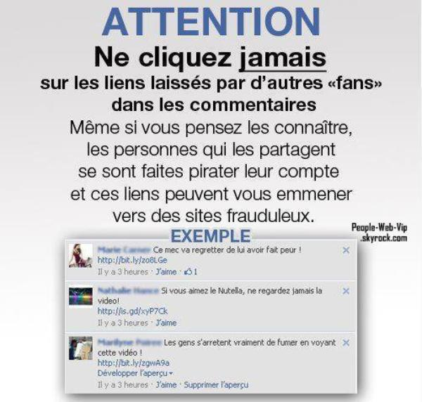 FACEBOOK: ATTENTION VIRUS SPAM !