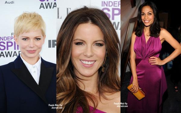 "Les stars sur le tapis ""VIOLET"" des 2012 Film Independent Spirit Awards (samedi (Février 25) à Santa Monica, Californie)"