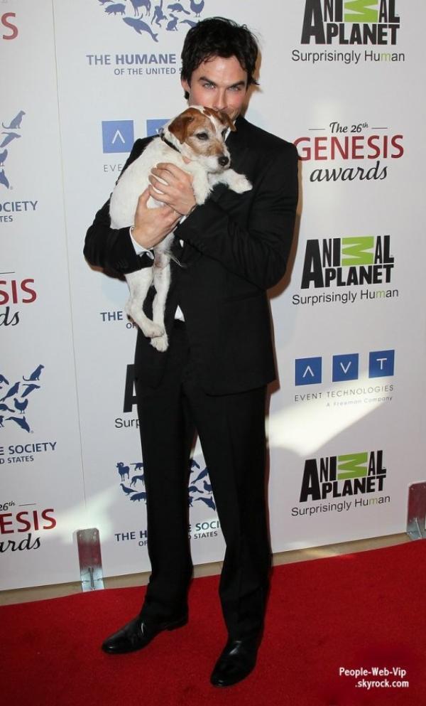 Sophia Bush, Ian Somerhalder, Kesha & Rose McGowanà la cérémonie des 26th Genesis Awards ( à l'Hôtel Beverly Hilton le samedi (Mars 24) à Beverly Hills, Californie)