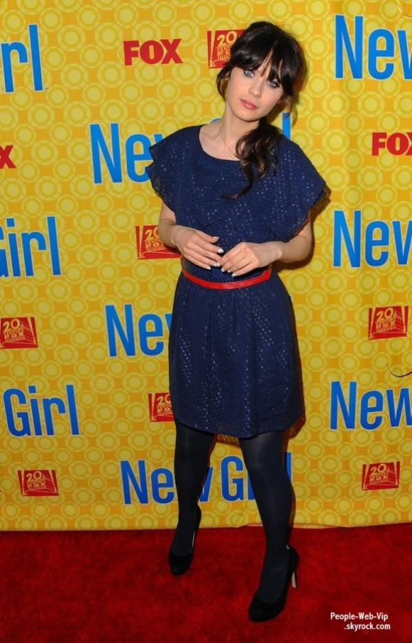 Zooey Deschanel  lors de la projection du dernier épisode de sa série New Girl au Théâtre Léonard H. Goldenson (lundi (7 mai) à North Hollywood, Californie)