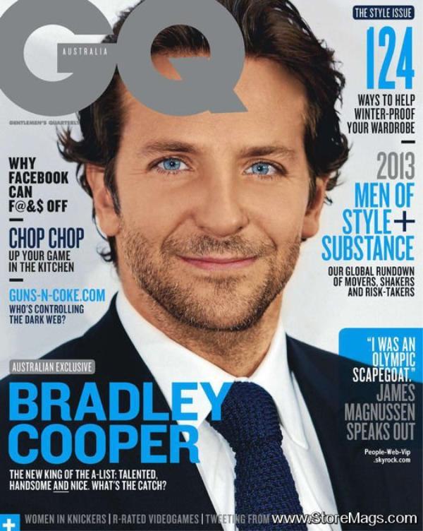 """Bradley Cooper En couverture du magazine """"GQ """" Qu'en pensez vous?"""