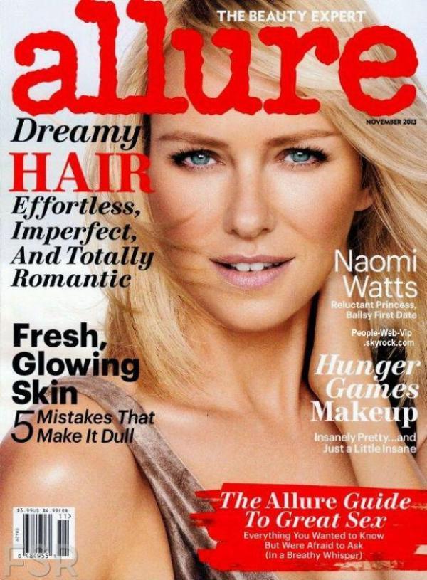 """Naomi Watts  En couverture du magazine """"Allure"""" Qu'en pensez vous ?"""