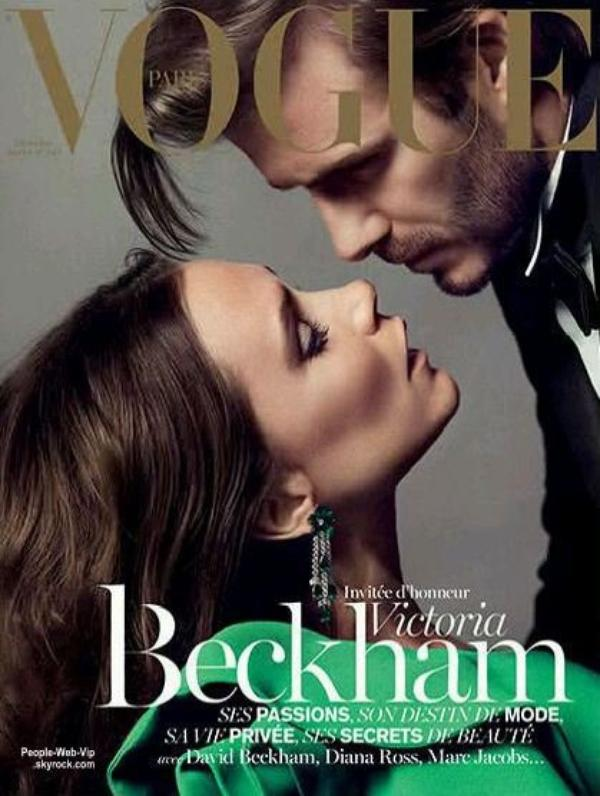 "COUPLE : Le couple Beckham posent ensemble pour le magazine "" Vogue Paris """