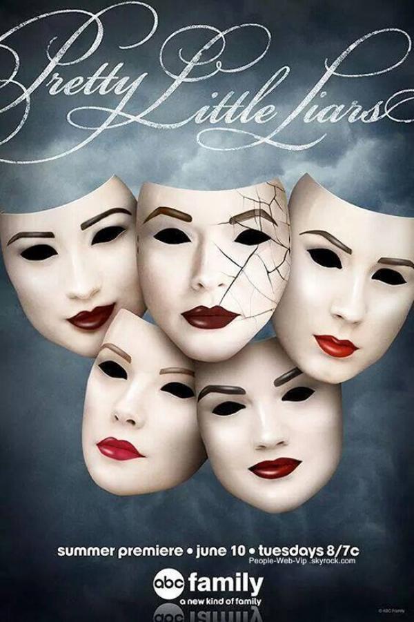 « Pretty Little Liars » : La production à enfin dévoilé le premier poster officiel pour la saison 5 qui débutera le 10 Juin.  On a hate ! Qu'en pensez vous ?