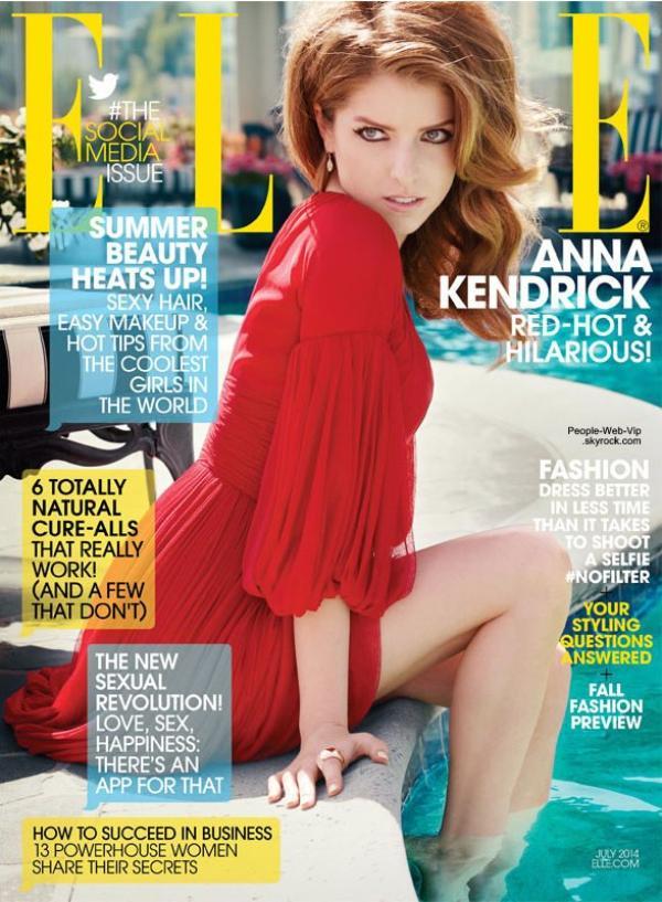 """Anna Kendrick en couverture du magazine """" Elle """"  Qu'en pensez vous ?"""