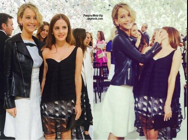 Charlize Theron et Sean Penn posent ensemble pour les paparazzis pendant le défilé de Christian Dior pendant la Fashion Week de Paris - Haute Couture Automne / Hiver 2014-2015  ( lundi (7 Juillet) à Paris, France. )