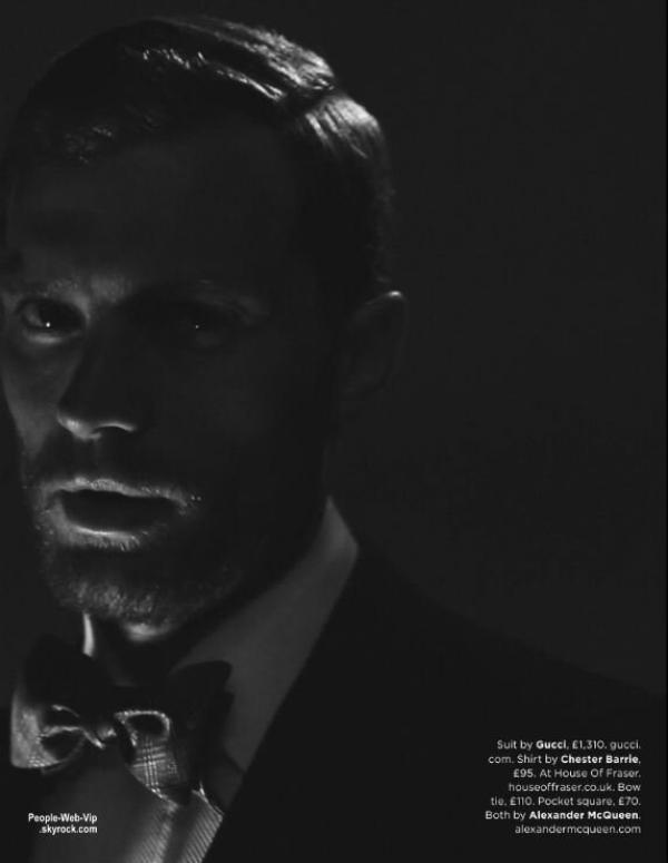 """Jamie Dornan qui incarnera Christian Grey dans """"Cinquante Nuances de Grey"""" pose dans le numéro d'octobre du magazine britannique GQ. Qu'en pensez vous?"""