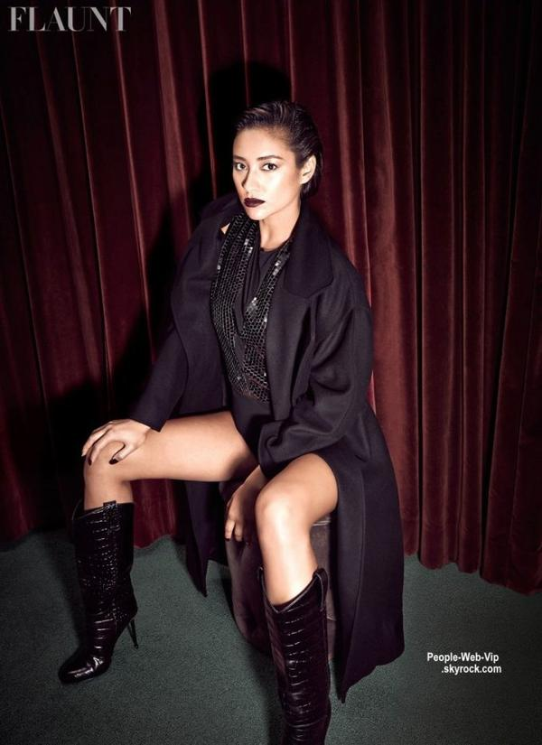 """La sublime Shay Mitchell de la série """" Pretty Little Liars"""" pose dans le numéro du magazine Flaunt  Qu'en pensez vous ?"""