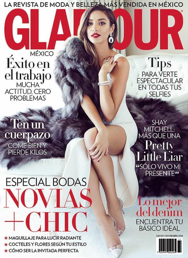 """La belle Shay Mitchell est en couverture du magazine """" Glamour Mexico"""" Qu'en pensez vous?"""