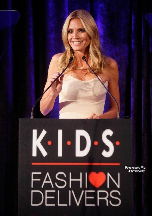 """Heidi Klum a été aperçue au Musée américain d'histoire naturelle pendant la soirée """"2014 K.I.D.S./Fashion Delivers Gala"""" (mercredi soir (5 Novembre) à New York.)"""