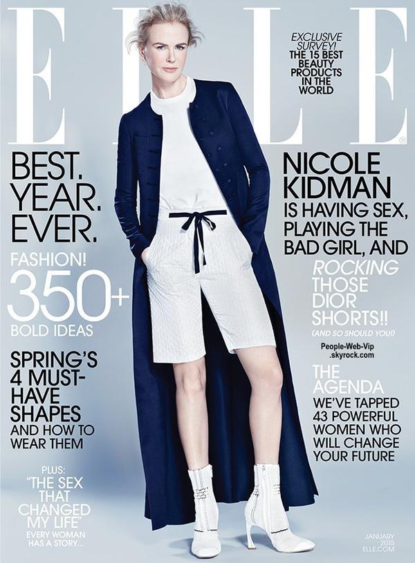 La belle australienne Nicole Kidman pose sur la couverture du numéro de Janvier du magazine ELLE US. Qu'en pensez vous?