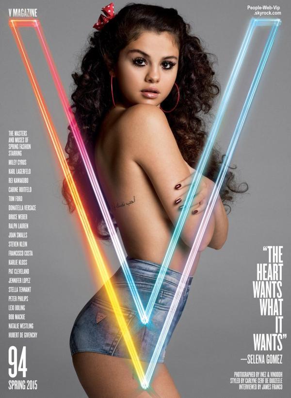 Selena Gomez pose  sur la couverture du Printemps du magazine V. Qu'en pensez vous?