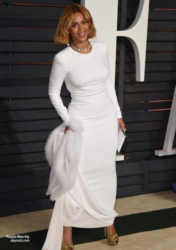 """- Vanity Fair Oscar Party -    Beyonce, sa soeur Solange et son mari Alan Ferguson lors de la """"Vanity Fair Oscar Party"""" pendant les Oscars 2015.   ( dimanche soir (22 Février) à Beverly Hills, en Californie.)"""