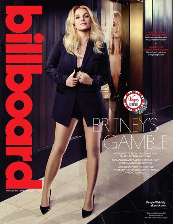 """Info : Britney Spears prépare un nouvel album !  Britney Spears en couverture du magazine """"Billboard """"  Qu'en pensez vous?"""