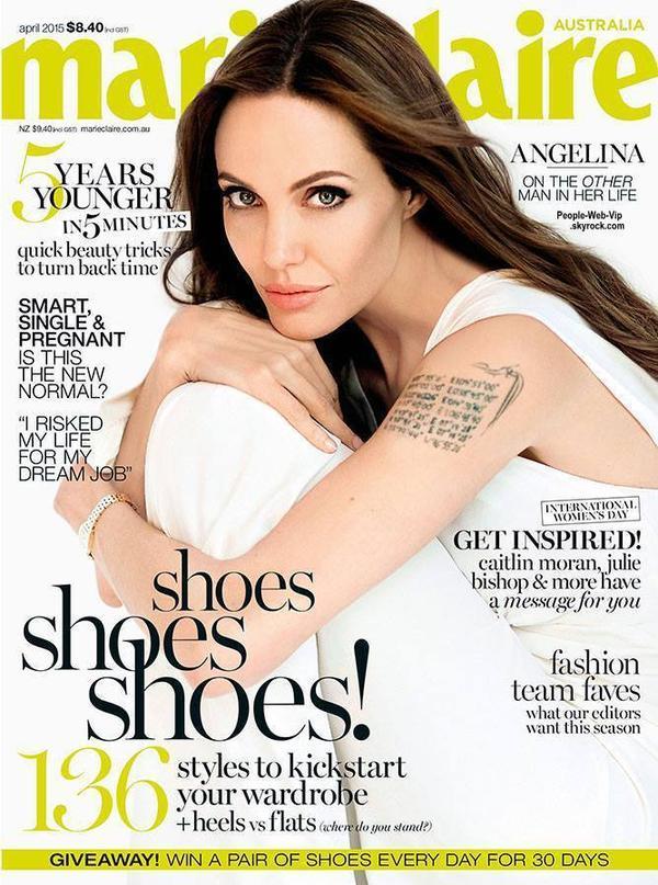 """Angelina Jolie est en couverture du magazine """" Marie Claire Australia."""" Qu'en pensez vous?"""